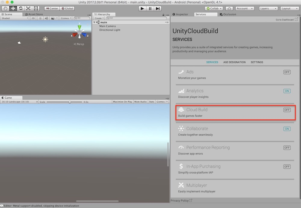 Unity】Unity Cloud Build (for Android)の使い方 | VRunner